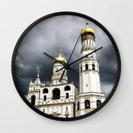 Dark clouds over Kremlin Wall Clock