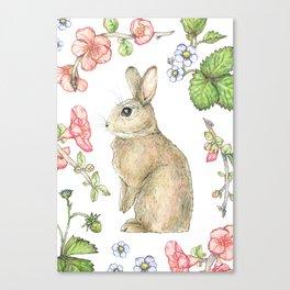 Floral Bunny Canvas Print