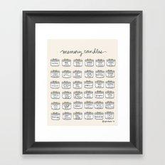 Memory Candles Framed Art Print