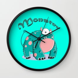 funny monster  Wall Clock