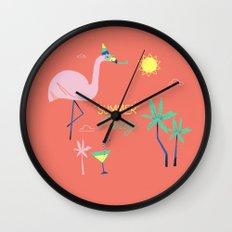 Corail Flamingo Wall Clock