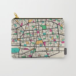 Colorful City Maps: Ulaanbaatar, Mongolia Carry-All Pouch