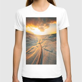 iceland road aerial view T-shirt
