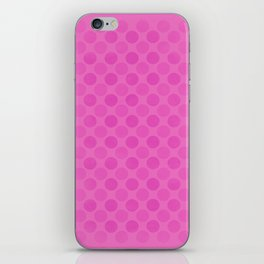 Faded pink circles pattern iPhone Skin