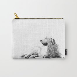 Red // Golden Retriever Carry-All Pouch