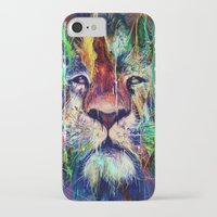 lion iPhone & iPod Cases featuring Lion by nicebleed