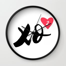 Hugs And Kisses x2 Wall Clock