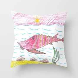 Tennessee Lake Sturgeon Throw Pillow