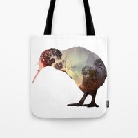 kiwi Tote Bags featuring kiwi by Rosa Picnic