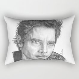 Chris Cornell Portrait Rectangular Pillow