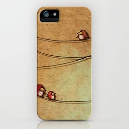 Rustic Bird Print, Country, Chic Look iPhone Case