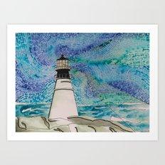 The Moody Blue Light Art Print