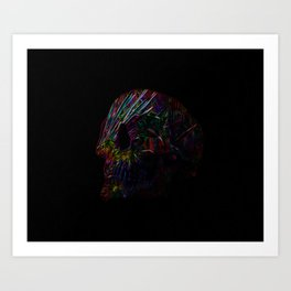 Skull Lines Art Print