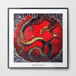 Hokusai Dragon I Metal Print
