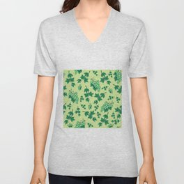 Seamless background from bunches of grapes Unisex V-Neck