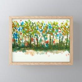 Silent Woods, Abstract Watercolors Landscape Art Framed Mini Art Print