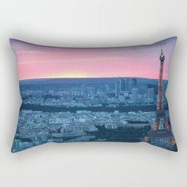 Paris City Sunset Rectangular Pillow