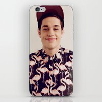 snl iPhone & iPod Skins featuring Flamingos by F*** Me Pete Davidson