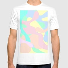 Serene MEDIUM White Mens Fitted Tee
