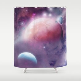 Pink Space Dream Shower Curtain