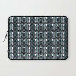 Checkered Silverware Pattern Laptop Sleeve