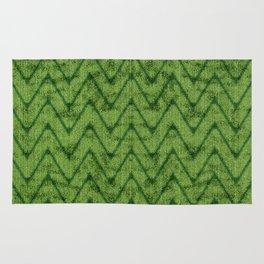 Velvety Lime Green Zigzag Chevron Pattern Rug