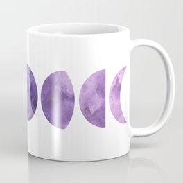 Lunar Phases in Violet Coffee Mug