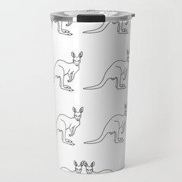Kangaroos by Salty Language Travel Mug