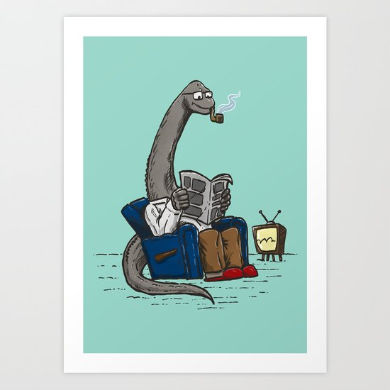 The Dadasaurus Art Print