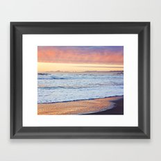 Clouds at Sunset Before the Storm, Santa Cruz Framed Art Print