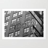 broadway Art Prints featuring Broadway by Bianca Favata