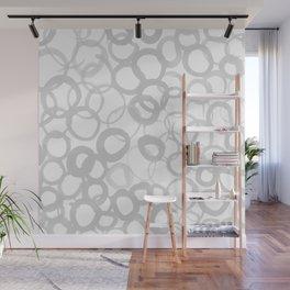 Watercolor Circle Gray Wall Mural