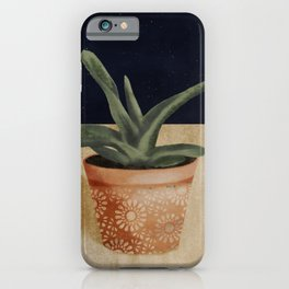 Potted Succulent // Nighttime Workspace // Plant Lovers // Terra-cotta and Green iPhone Case