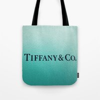 tiffany Tote Bags featuring Tiffany by Christine Leanne