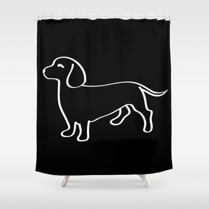 Doxie Love White Shower Curtain