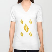 guns V-neck T-shirts featuring Golden Guns by deff