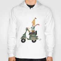 vespa Hoodies featuring Vespa by Aguinaldo Goncalves