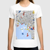 oslo T-shirts featuring Oslo mondrian by Mondrian Maps