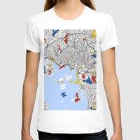 mondrian T-shirts featuring Oslo mondrian by Mondrian Maps