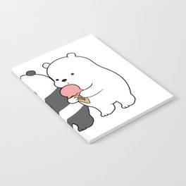 Baby Bears Eating Some Ice Cream Notebook