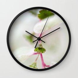 Tiny Trumpet Flower Wall Clock