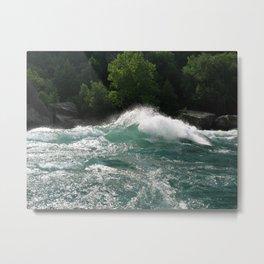 Landscape | Niagara River | Waves | Canada Metal Print