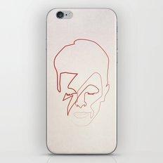 One line Aladdin Sane iPhone & iPod Skin