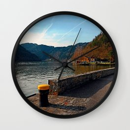 Sunny afternoon at the harbour | landscape photography Wall Clock