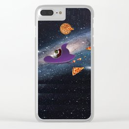 Pizza Heaven Clear iPhone Case