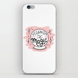 VEGANISM IS MAGIC iPhone Skin