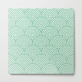 Scales - Green & White #353 Metal Print