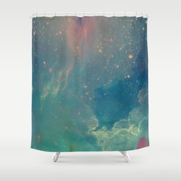 Space fall Shower Curtain