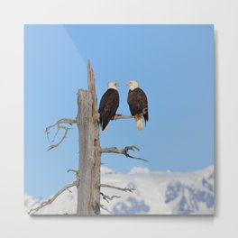 Perched With A View Duo Metal Print