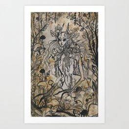 Mushroom Nymph Art Print